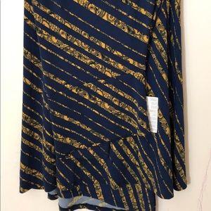 Medium navy & gold maxi skirt